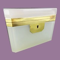Antique French  Opaline Casket Hinged Box ~  Luscious Creamy White~  BEAUTIFUL