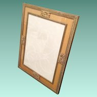 """12"""" Wonderful Estate Vintage Brass Picture Frame. ~ A Table Top Frame with Heavy Easel Back  ~  Ready for Your 9 ½""""  x  7"""" Picture"""
