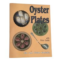 1993 Oyster Plates by Vivian & Jim Karsnitz with Price Guide ~ A Soft Cover Book with 149 Pages.
