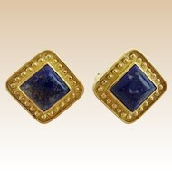 18KARAT Lapis Lazuli Earrings