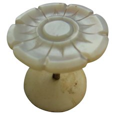 Antique Mother of Pearl Thread Spool