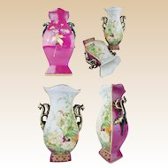 "Antique Porcelain ""Old Paris"" Vases "" ROSES & FLOWERS"