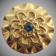 14KARAT Blue Topaz Slide For Add A Slide Bracelet