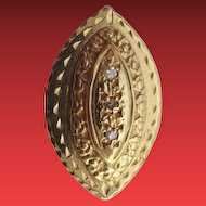 "14KARAT Diamond Slide For Add A Slide Bracelet ""DIAMOND SHAPE"""