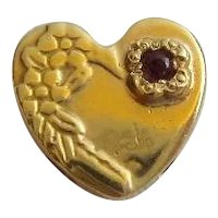 14KARAT Amethyst Heart Slide For Add A Slide Bracelet