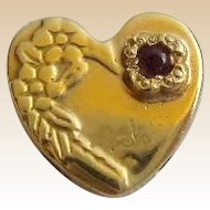 14KARAT Amethyst Heart Slide For Add A Slide Bracelet