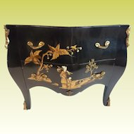"Vintage Estate Miniature Chinoiserie Marble Top Chest ""A Charming Little Chinoiserie Chest"""