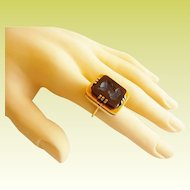 Antique 14KARAT Yellow Gold Carnelian,Onyx, &  Agate  LOCKET PHOTO RING