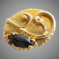 "14KARAT Sapphire  Oval Slide for Add A Slide Bracelet  ""Marquise Shape Blue Sapphire"""
