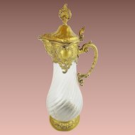"Antique Crystal Decanter Wine Claret Jug "" Rococo Style """