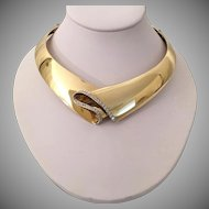 GLORIOUS  Scavia 18KARAT Yellow Gold Diamond Choker Necklace