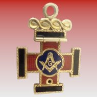 14KARAT Masonic Cross Charm Pendant