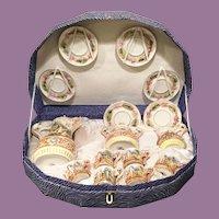 Rare Capodimonte Tea Set in Presentation Box ~  6 Cups, 6 Saucers, Cream, Sugar & the Grandest Teapot