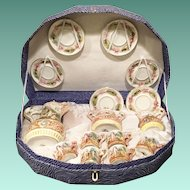 Gorgeous Capodimonte Tea Set in Presentation Box ~ AS IS! ~ 6 Cups, 6 Saucers, Cream, Sugar & the Grandest Teapot