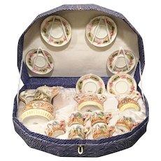 Gorgeous Capodimonte Tea Set in Presentation Box ~ AS IS! ~ 6 Cups, 6 Saucers, Cream, Sugar & the Grandest Teapot