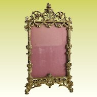 "Antique French Bronze Table Picture Frame ~ Beautiful Bronze Frame with Easel Back that is Ready for You Prized  4"" x 5 ½""  Photo"