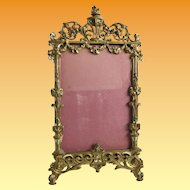 """Antique French Bronze Table Picture Frame ~ Beautiful Bronze Frame with Easel Back that is Ready for You Prized  4"""" x 5 ½""""  Photo"""