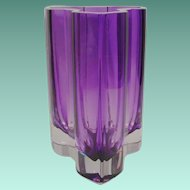 Exquisite Estate Vintage Purple Kosta Boda Vase ~ AMAZING  Shape & Color ~ Artist Signed.