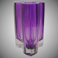 Exquisite Estate Vintage Purple Kosta Boda Vase ~ AMAZING  Shape & Color ~ Artist Signed.