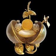 Antique French Ormolu  Scent Casket, Watch holder & Trinket Tray