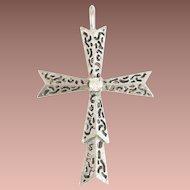 14KARAT White Gold Diamond Cross