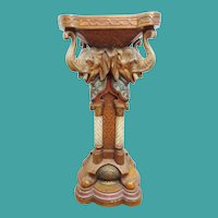 "35"" Antique German Porcelain Elephant Pedestal "" URIELA"""