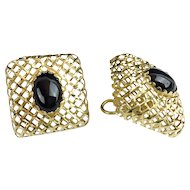"""Beautiful Very Fine  14KARAT & Onyx Earrings  """"These are  SPECIAL"""""""