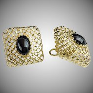 "Beautiful Very Fine  14KARAT & Onyx Earrings  ""These are  SPECIAL"""