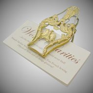 Exquisite Antique French Empire Desk Clip ~ Beautiful Gilt Ormolu &  Crystal ~Nice Size!