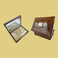 Palais Royal Musical Sewing Etui Necessaire  ~ Seven Mother of Pearl &  Crystal Pieces~