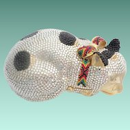 "Exquisite Judith Leiber "" CAT ""  Minaudiere with Big Bow"