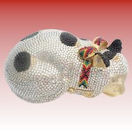 """Exquisite Judith Leiber """" CAT """"  Minaudiere with Big Bow"""