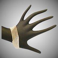 "18KARAT Yellow Gold Diamond &  Pearl Bracelet ""Truly a Superb Bracelet"""