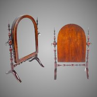 19C  Miniature  Dressing Mirror ~ Adjustable  ~ RARE & OUTSTANDING