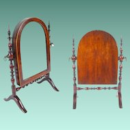 19C  Miniature Doll Dressing Mirror ~ Adjustable  ~RARE & OUTSTANDING