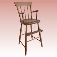 19C American Primitive  Child's High Chair ~ Adorable Little High Chair in Great Condition &  Ready to Serve Another Century