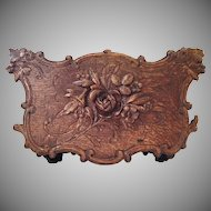 Exquisite 19th Century  French Carved Wood Jardiniere ~  It's BIG and Beautiful!