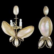 """Exquisite 11 ½"""" Palais Royal Mother of Pearl Scent Etui  """"TWIN SCENT BOTTLES & ETUI"""""""