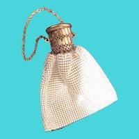 Charming Vintage Estate White Mesh Bag Purse
