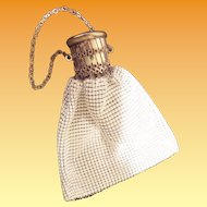 Charming Vintage Estate White Mesh Bag Purse
