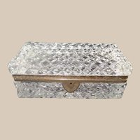V French Cut Crystal Casket Hinged Box ~ BIG Cut Crystal with Ornate Gilt Mounts & Fancy Mounts