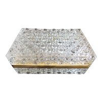 Crystal Hinged Box with Smooth Gilt Brass Mounts ~ KILLER BOX