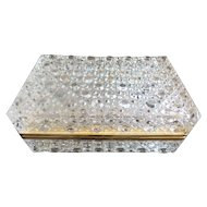 Crystal Hinged Box with Smooth Gilt Brass Mounts ~ KILLER BOX