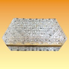 GIANT Crystal Hinged Box with Smooth Gilt Brass Mounts ~ CIRCA: 2nd Quarter 20th Century