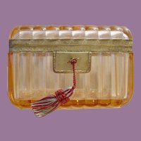 Antique French Crystal Casket Hinged Box ~ A Pink Crystal Masterpiece  ~ Stunning Shape &  Size