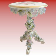 Miniature  ELFINWARE Rococo Style Porcelain Small Round Table ~Stamped: Made in Germany~