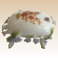 Miniature  ELFINWARE Rococo Style Porcelain Foot Rest Stool