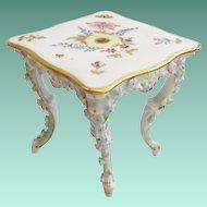 Miniature ELFINWARE  Rococo Style Porcelain Square Table~  TABLE 1A