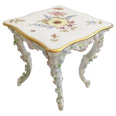 Miniature ELFINWARE  Rococo Style Porcelain Square Table~  TABLE 1A