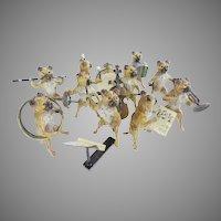 Antique Austria Pug Dog Band ~ Ten Musicians  ~ YES... TEN RARE Pieces
